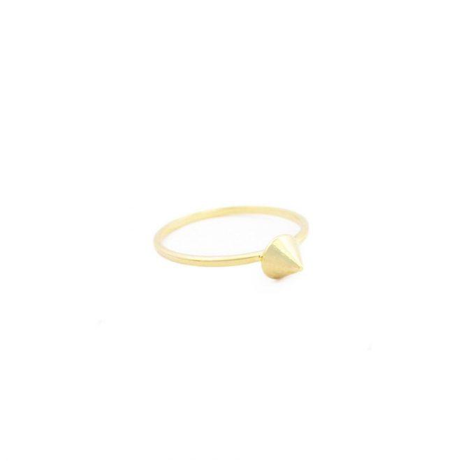 comprar anillo pincho dorado