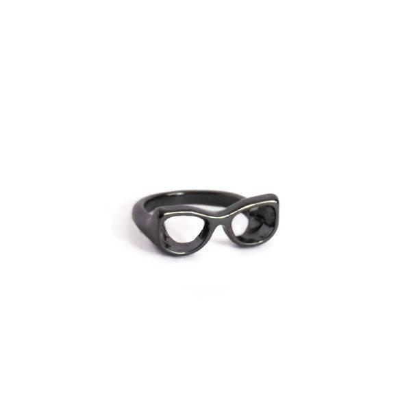 comprar anillo gafas nerd negro