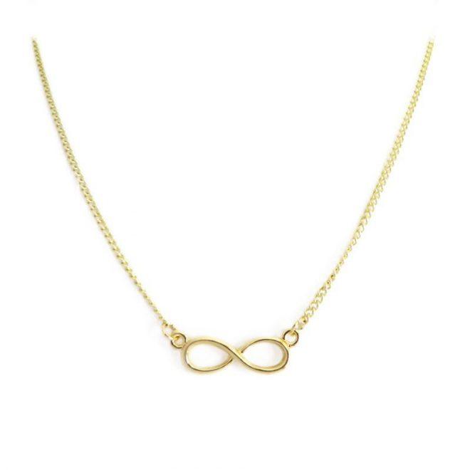 comprar colgante collar infinito dorado