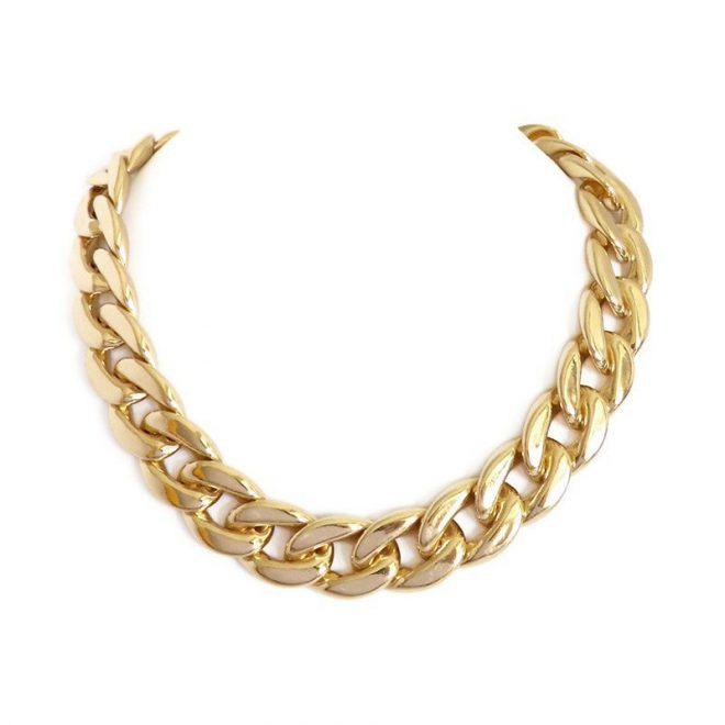 comprar collar de eslabones dorado