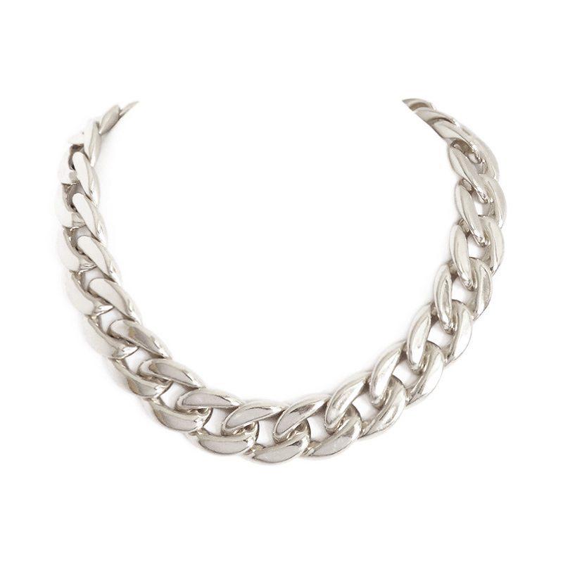 dónde comprar collar de eslabones plateado