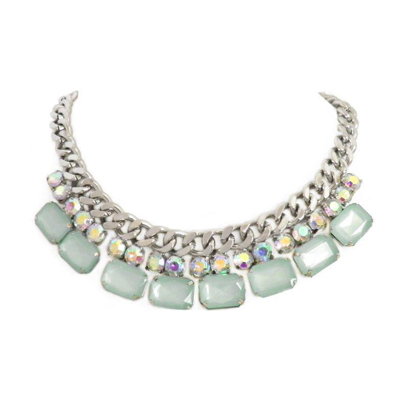 dónde comprar collar de piedras verde