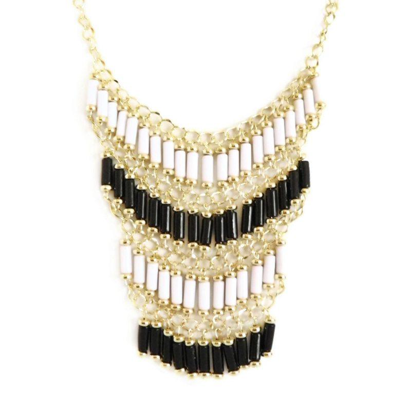 comprar online collar étnico bicolor