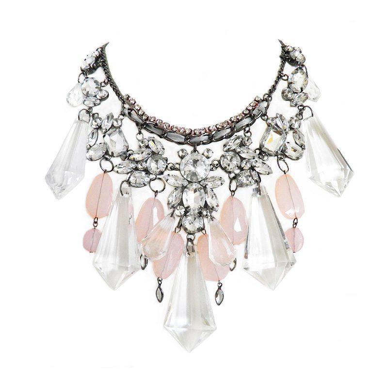 dónde comprar collar XL con cristales rosa