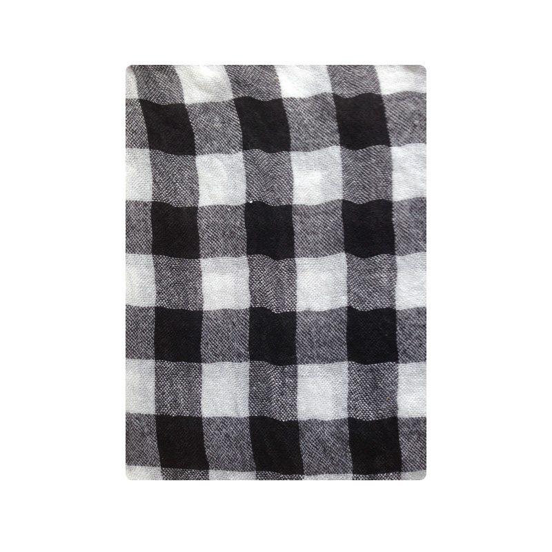 comprar online pañuelo soft cuadros blanco y negro