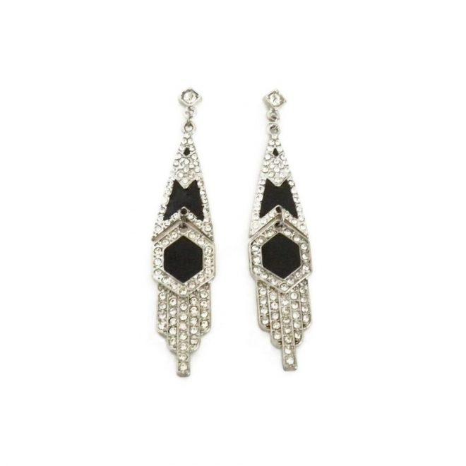 comprar online pendientes geométricos con cristales