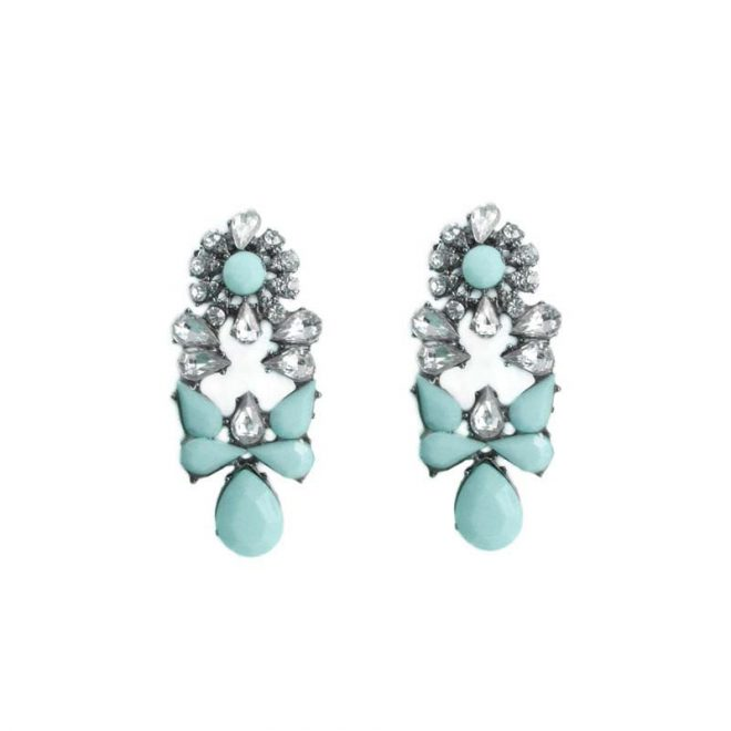 comprar online pendientes piedras azul