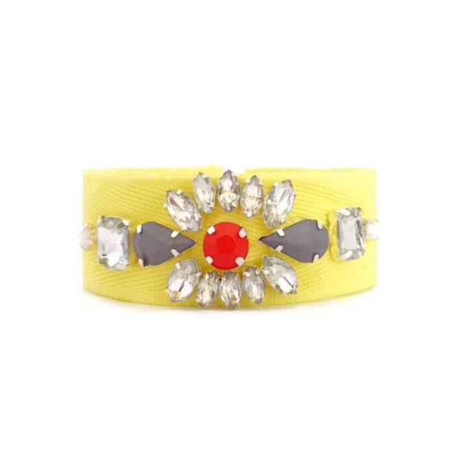 dónde comprar pulsera con cristales amarillo