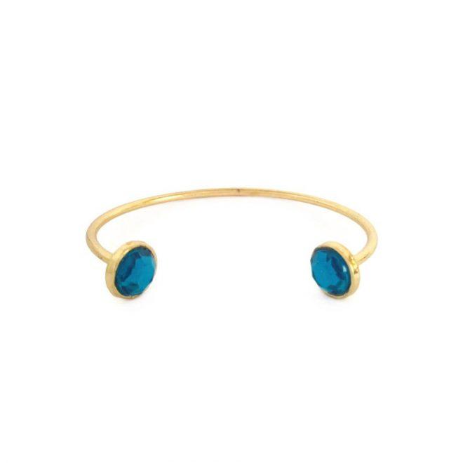 imagen de pulsera con cristales azul