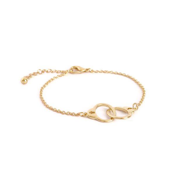 comprar pulsera con esposas dorada