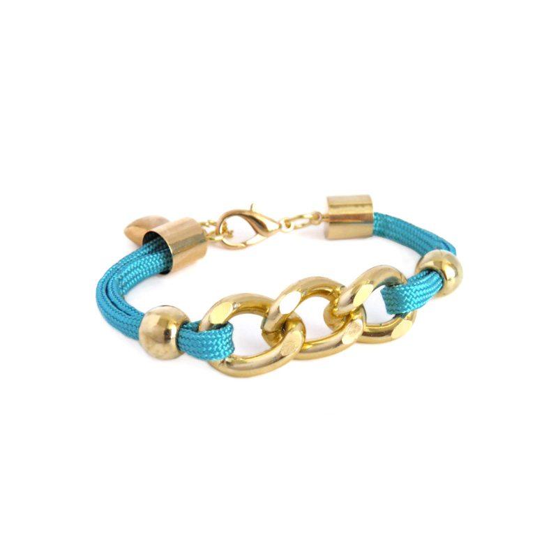 dónde comprar pulsera de cuerda y eslabones azul