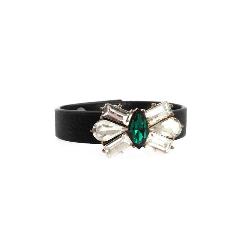 comprar online pulsera con cristales verde