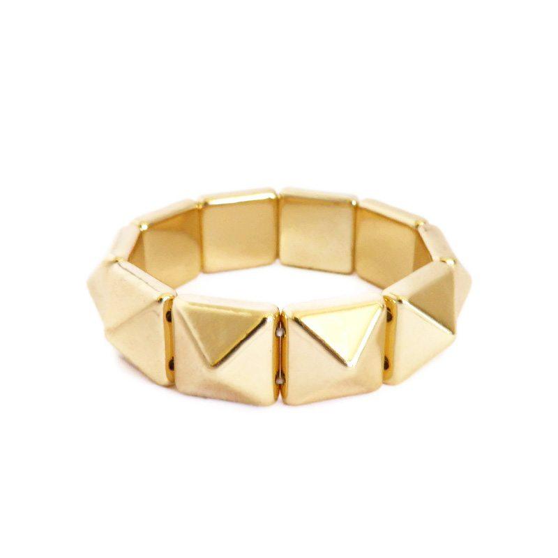 dónde comprar pulsera de pirámides dorada