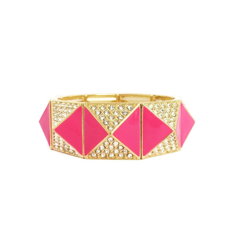 comprar pulsera de pirámides rosa