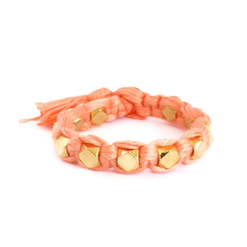 comprar online pulsera trenzada coral