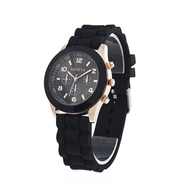 dónde comprar reloj analógico dorado negro