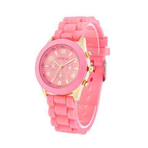 comprar online reloj analógico dorado rosa