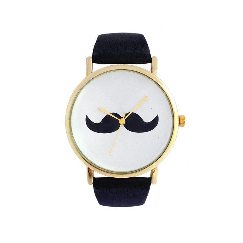 comprar online reloj con bigote negro