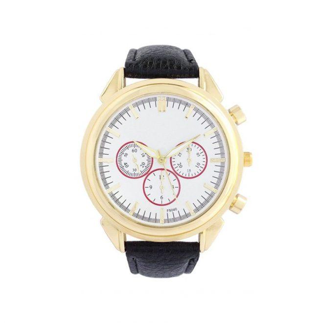 dónde comprar reloj con correa negra estilo boyfriend