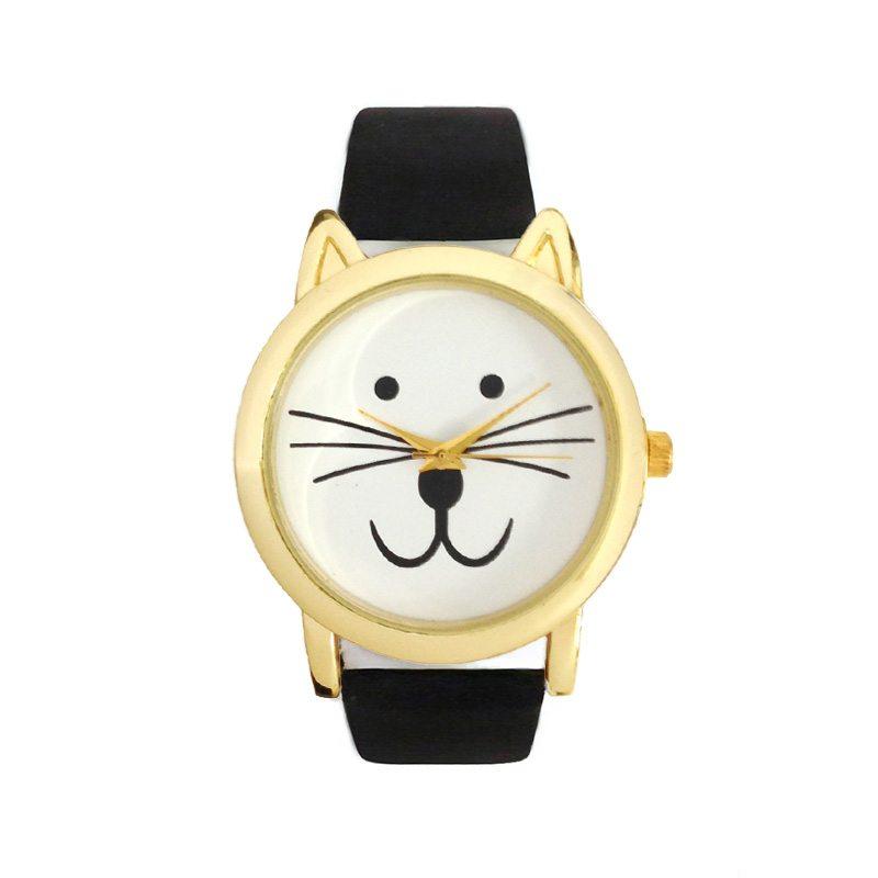 comprar online reloj con gato negro