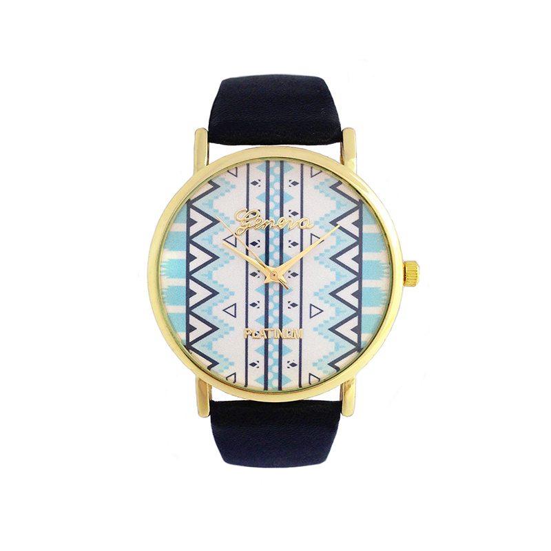 imagen de reloj etnico azul