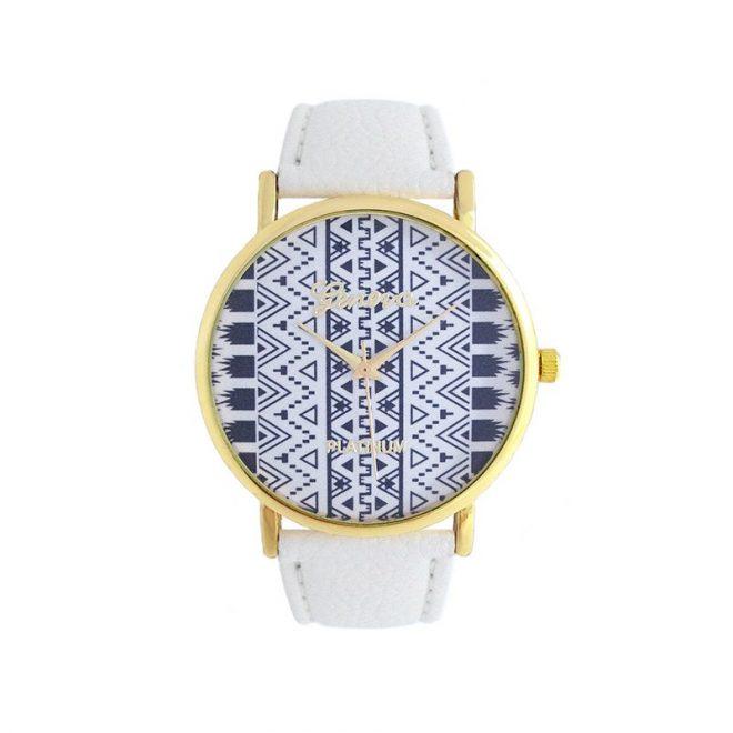 imagen de reloj etnico blanco