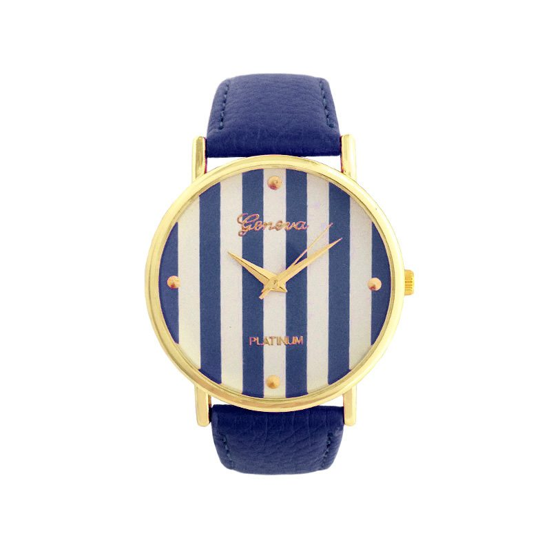 comprar online reloj rayas azul marino
