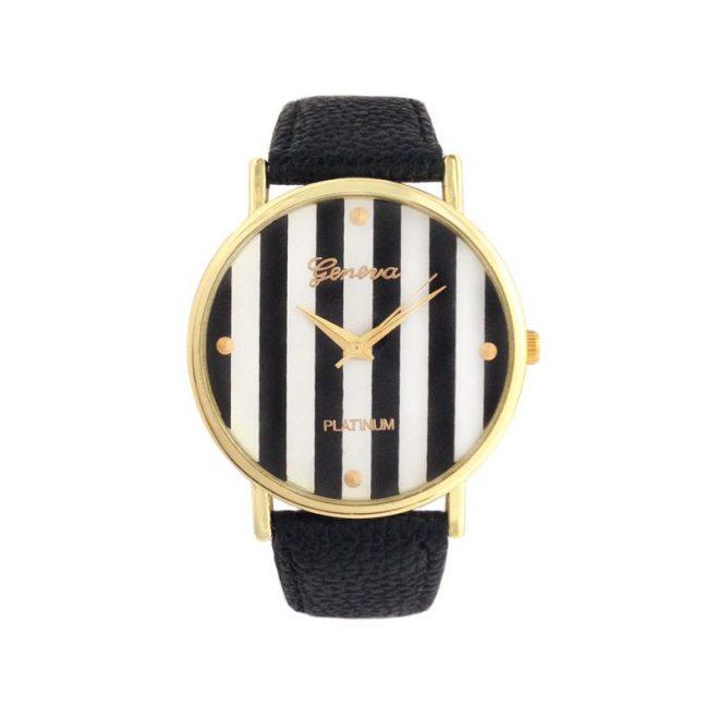 comprar reloj rayas negro