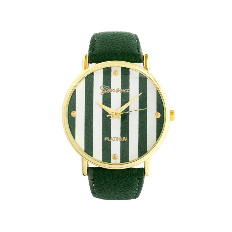 dónde comprar reloj rayas verde oscuro