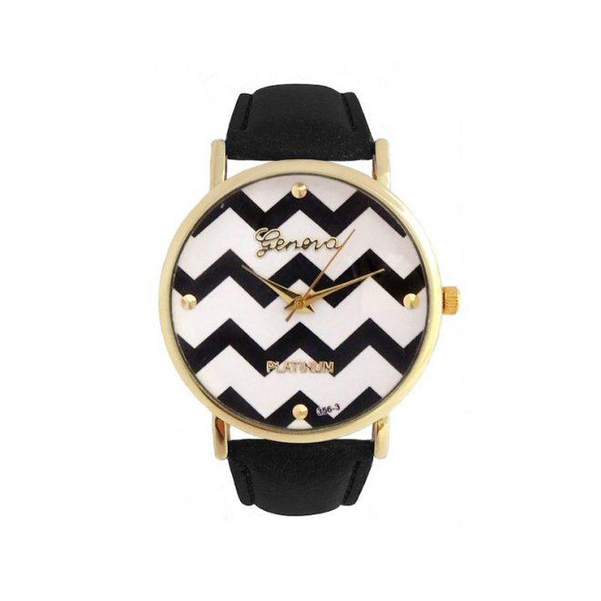 comprar online reloj zig zag negro