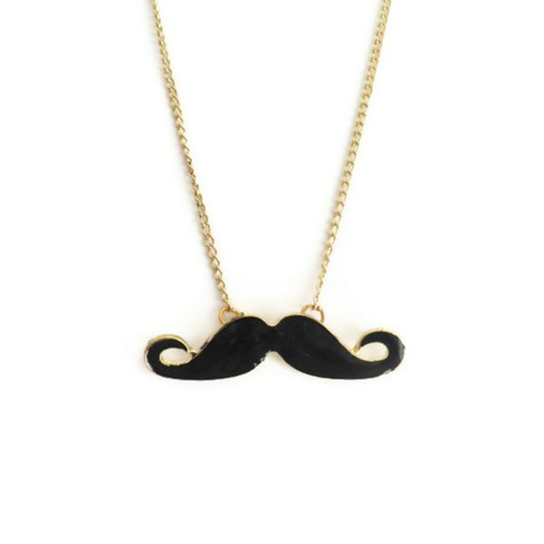 imagen de collar con bigote negro