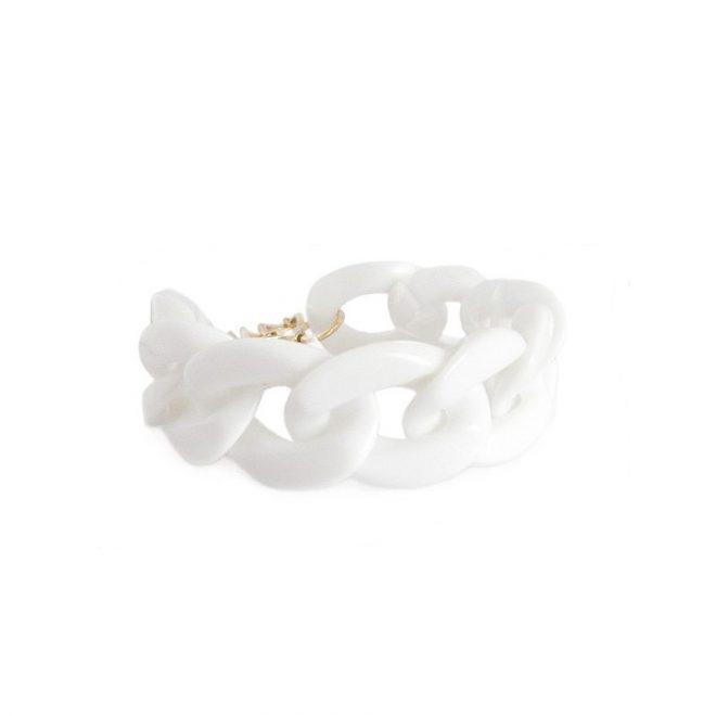 imagen de pulsera eslabones blancos