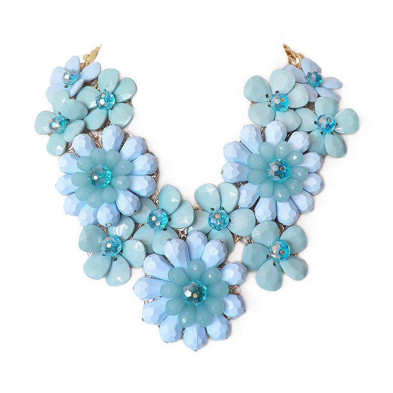 imagen de collar flores xl azul