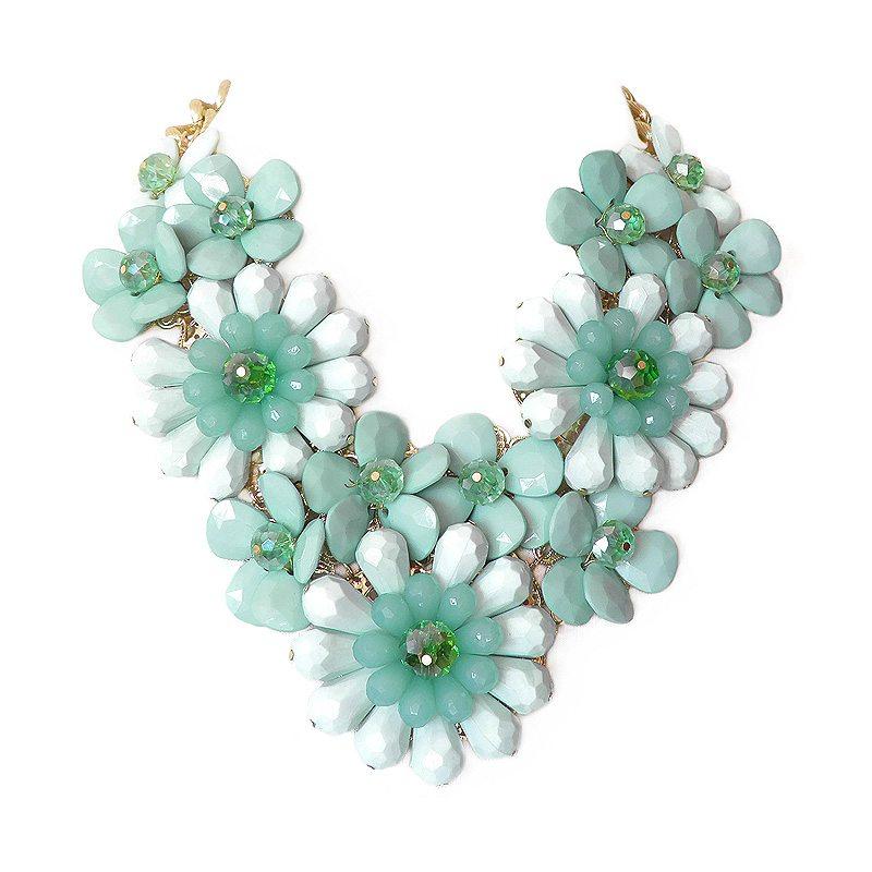 imagen de collar flores xl verde
