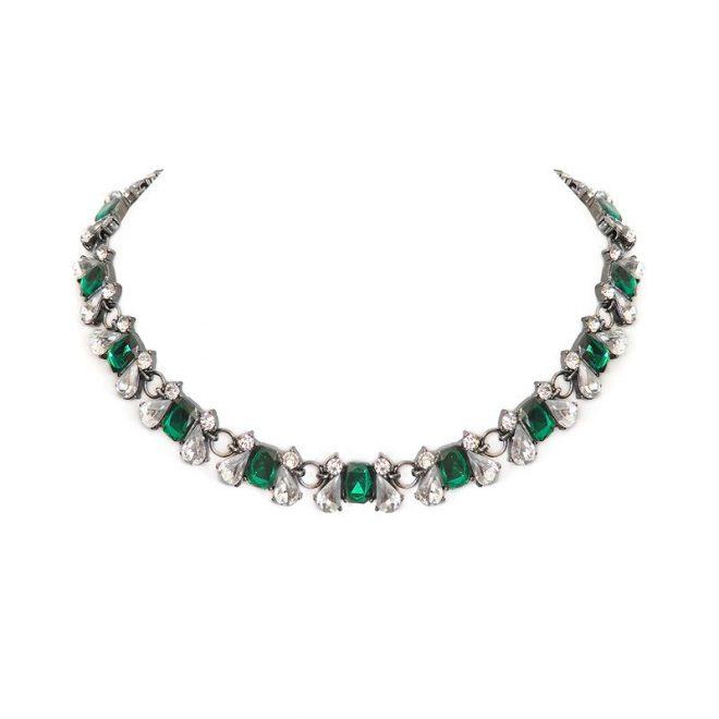 imagen collar cristales esmeralda