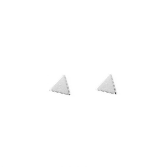 comprar pendientes triangulos plata