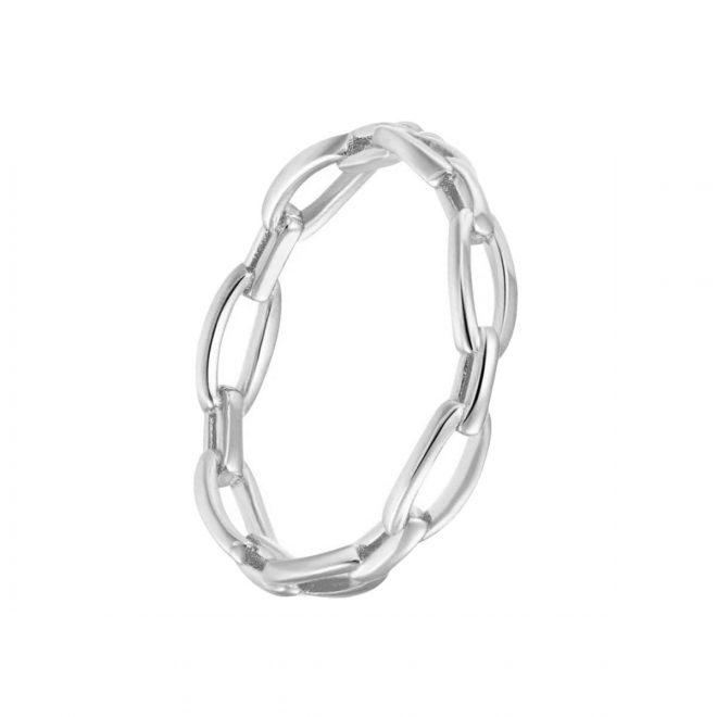 Anillo Chain Plata de Eslabones
