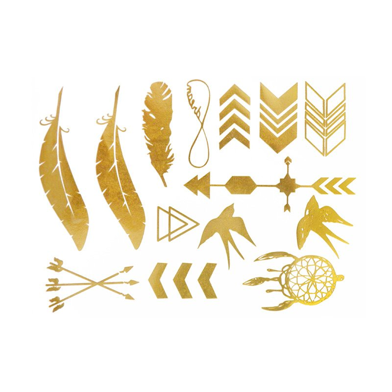 comprar tatuajes joya dorados