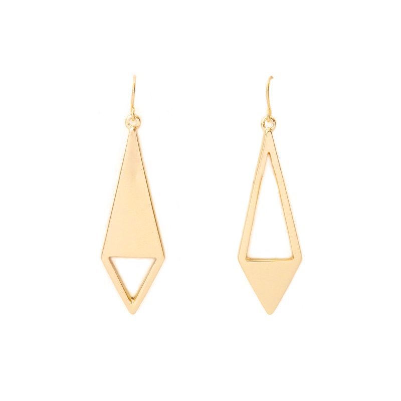 pendientes dorados geometricos