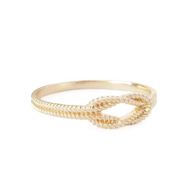 comprar pulsera de nudo dorada
