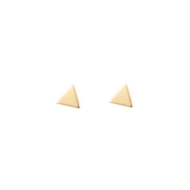 pendientes triangulos dorados