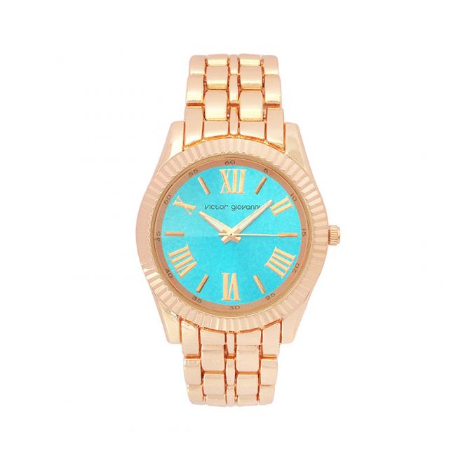 reloj giovanni azul dorado rosa