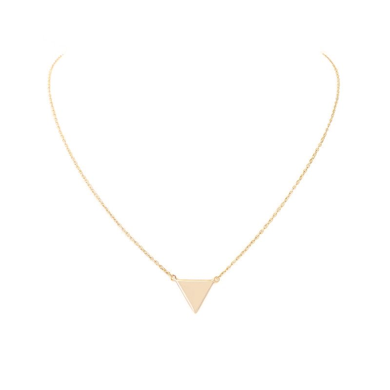 colgante collar triangulo dorado