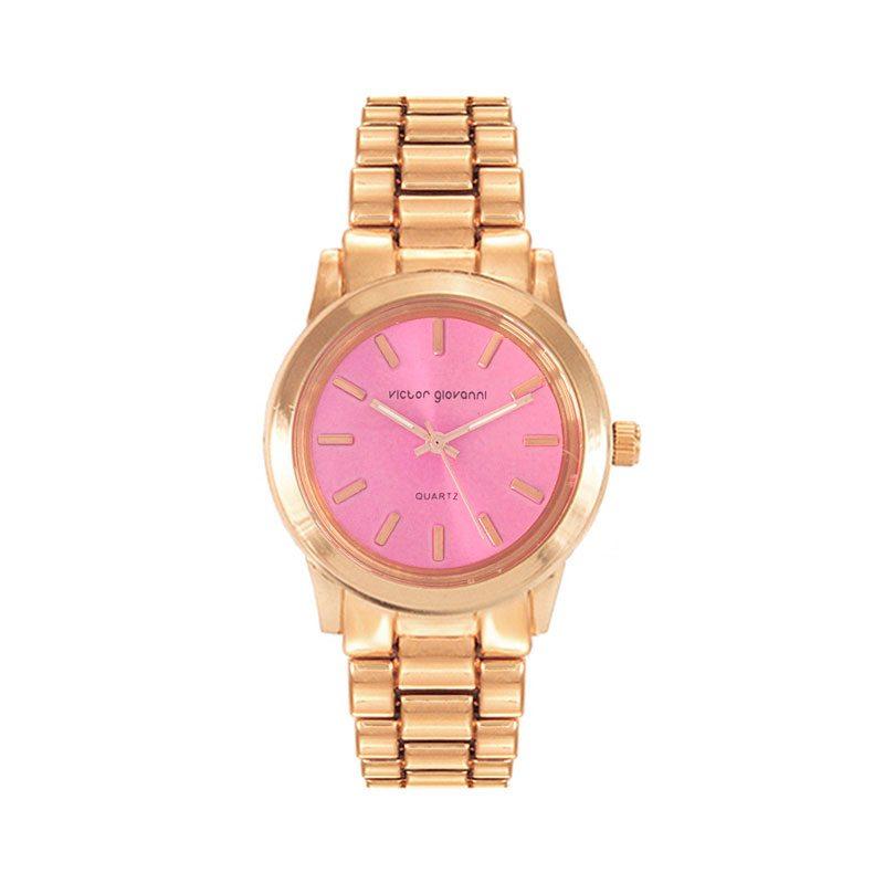 reloj boyfriend dorado rosa