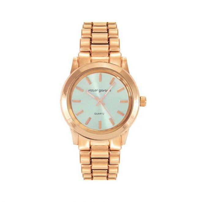 reloj boyfriend dorado rosa turquesa