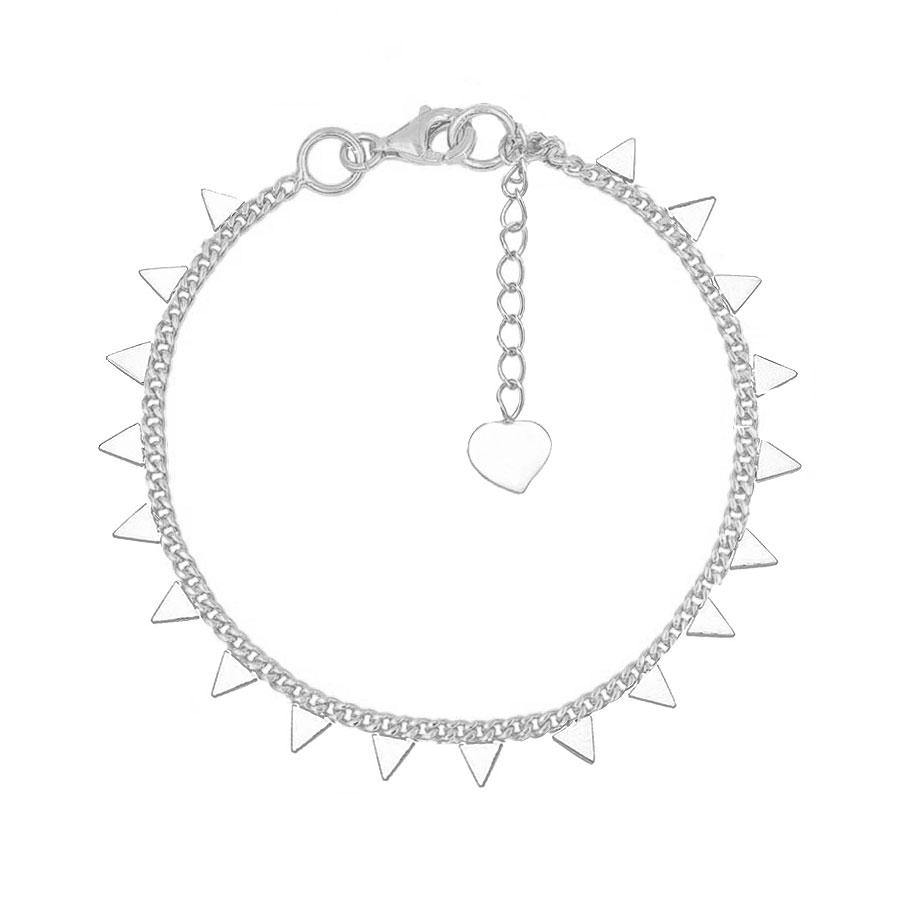 Pulsera de plata decorada con triángulos