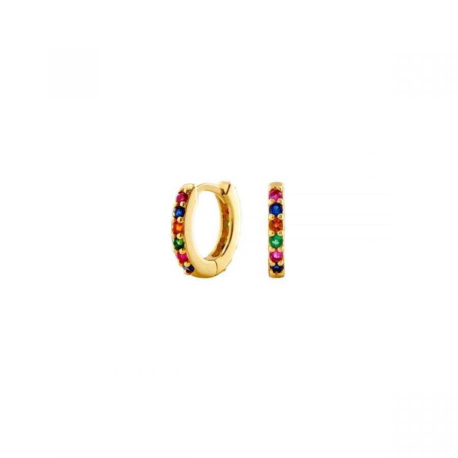 Arito ajustado a la oreja con circonitas multicolor
