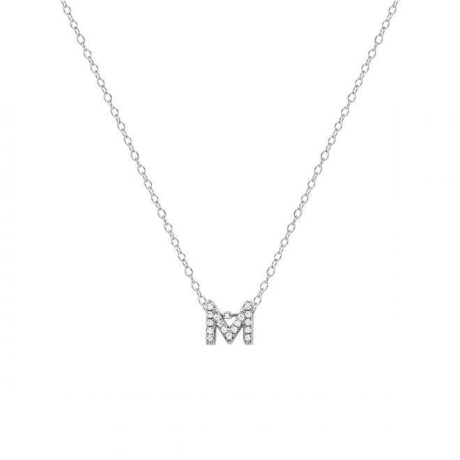 collar inicial piedras circonitas