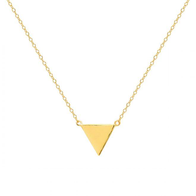 collar con triangulo dorado
