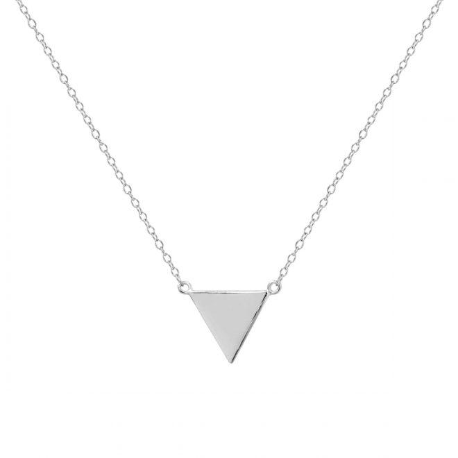 colgante collar triangulo plata